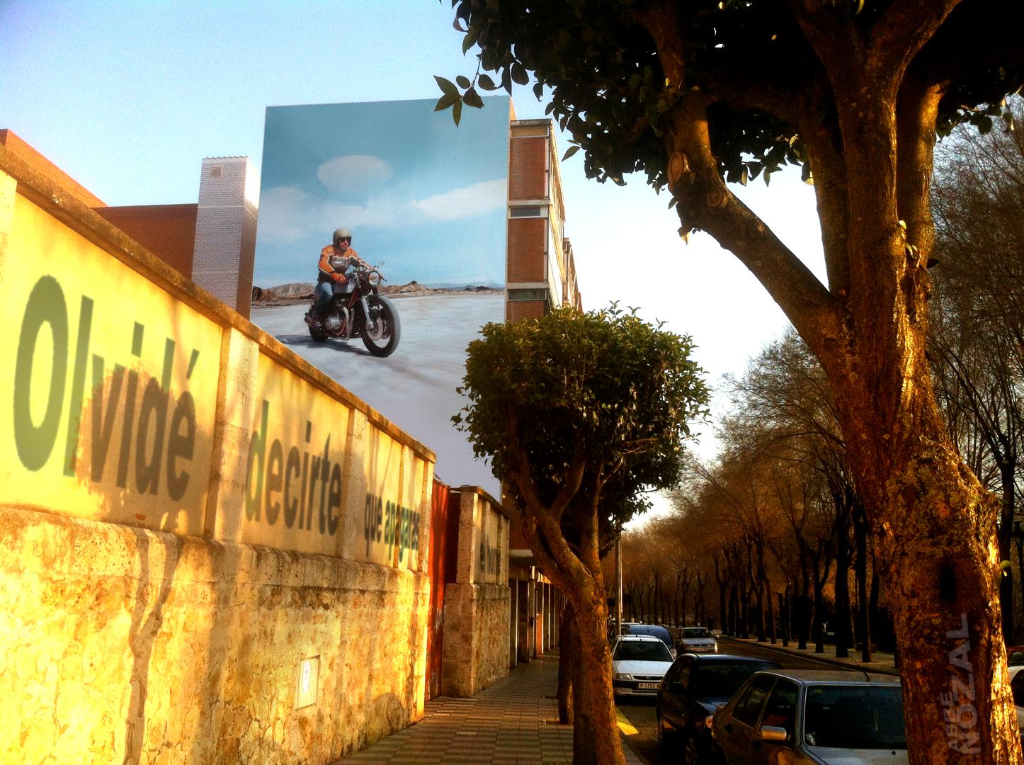 Jimmy en moto, 2014 Abbé Nozal