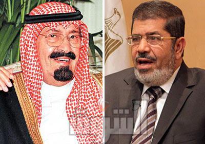 زيارة مرسي الاولي المملكة العربية السعودية ومتابعة مستمرة. King-Abdullah-Mohame