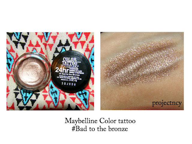 ... this color from Maybelline Color Tattoo 24hr wear cream eyeshadow