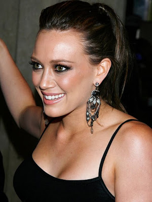 Hilary Duff Gemstone Chandelier Earrings