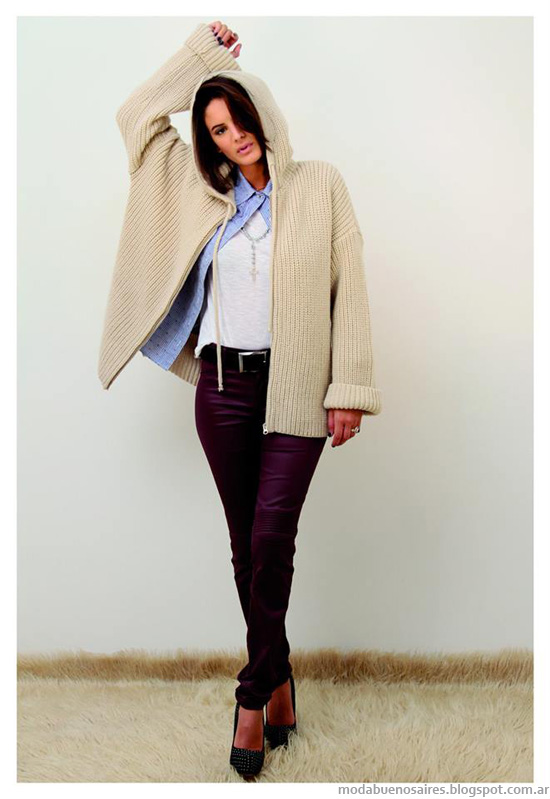 Moda invierno 2014 Marcela Pagella sacos tejidos.