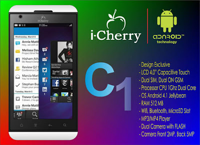 i-Cherry C1, Smartphone Mirip BB Z10