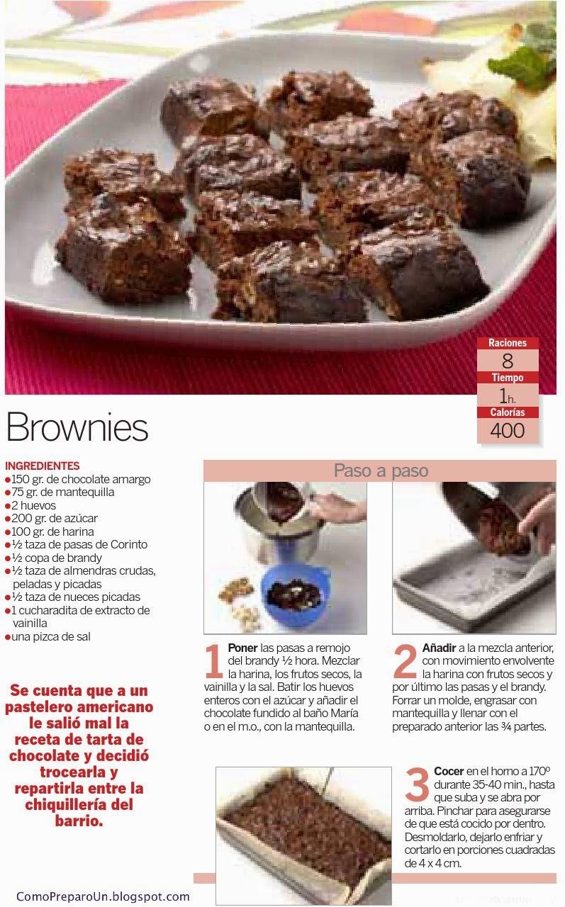 RECETA CASERA PARA PREPARAR BROWNIES - POSTRES SENCILLOS