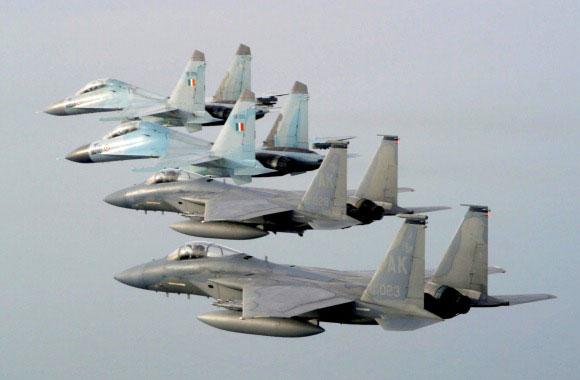 Su-30 dan F-15 pada Cope India 2004