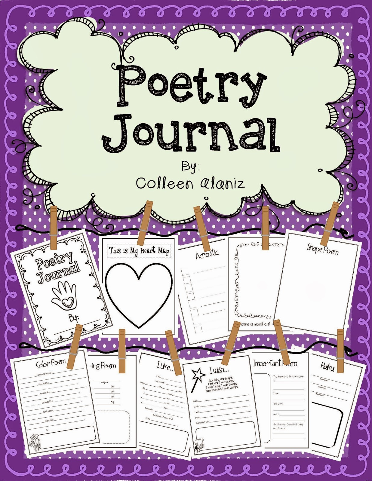 http://www.teacherspayteachers.com/Product/Poetry-Journal-Templates-to-Teach-Poetry-538886