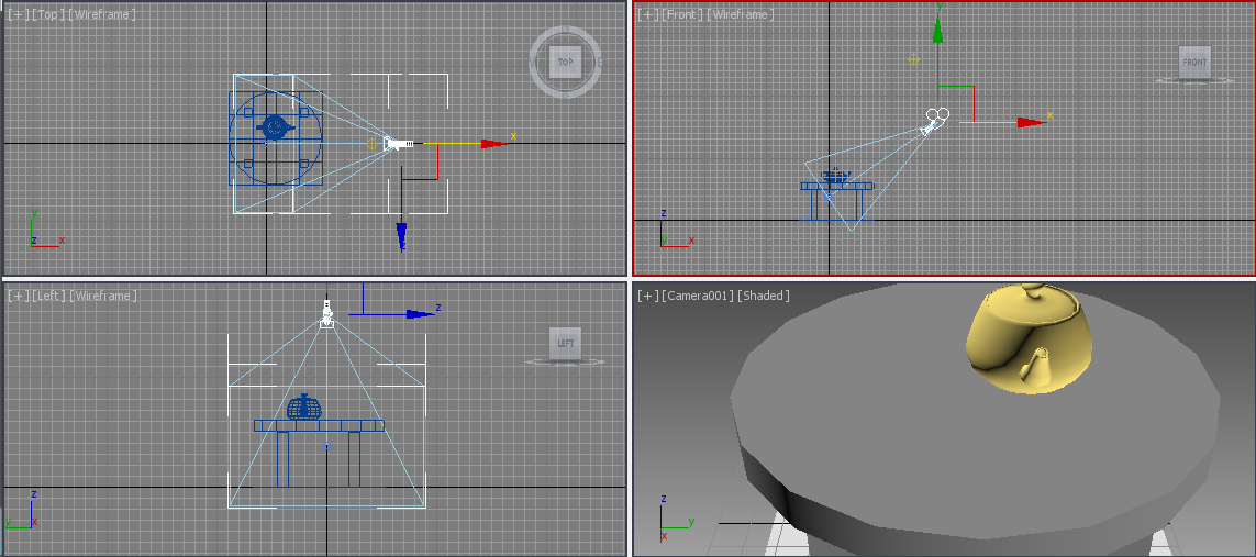 how to move camera 3ds max