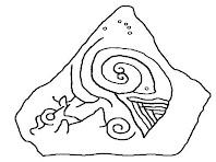 El dibuix de les espirals de la cara nord