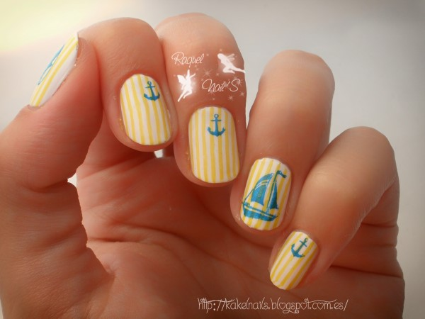 Yellow nails nautical