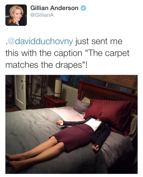 X Files: Gillian Anderson 'David Duchovny just sent me this with ...