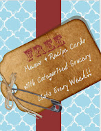 Weekly Recipe Cards & Grocery Lists