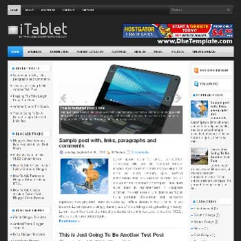iTablet blog template. template image slider blog. magazine blogger template style. blogger template for tablet blog
