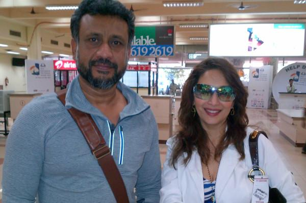 1 - Anushka Sharma with Ranveer & Madhuri Dixit at the Airport