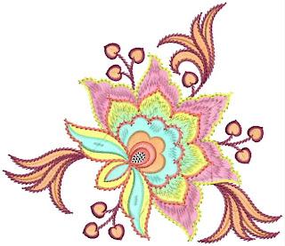 aantreklike Floral Patch