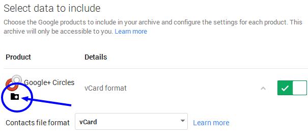 transfer your google+ circles