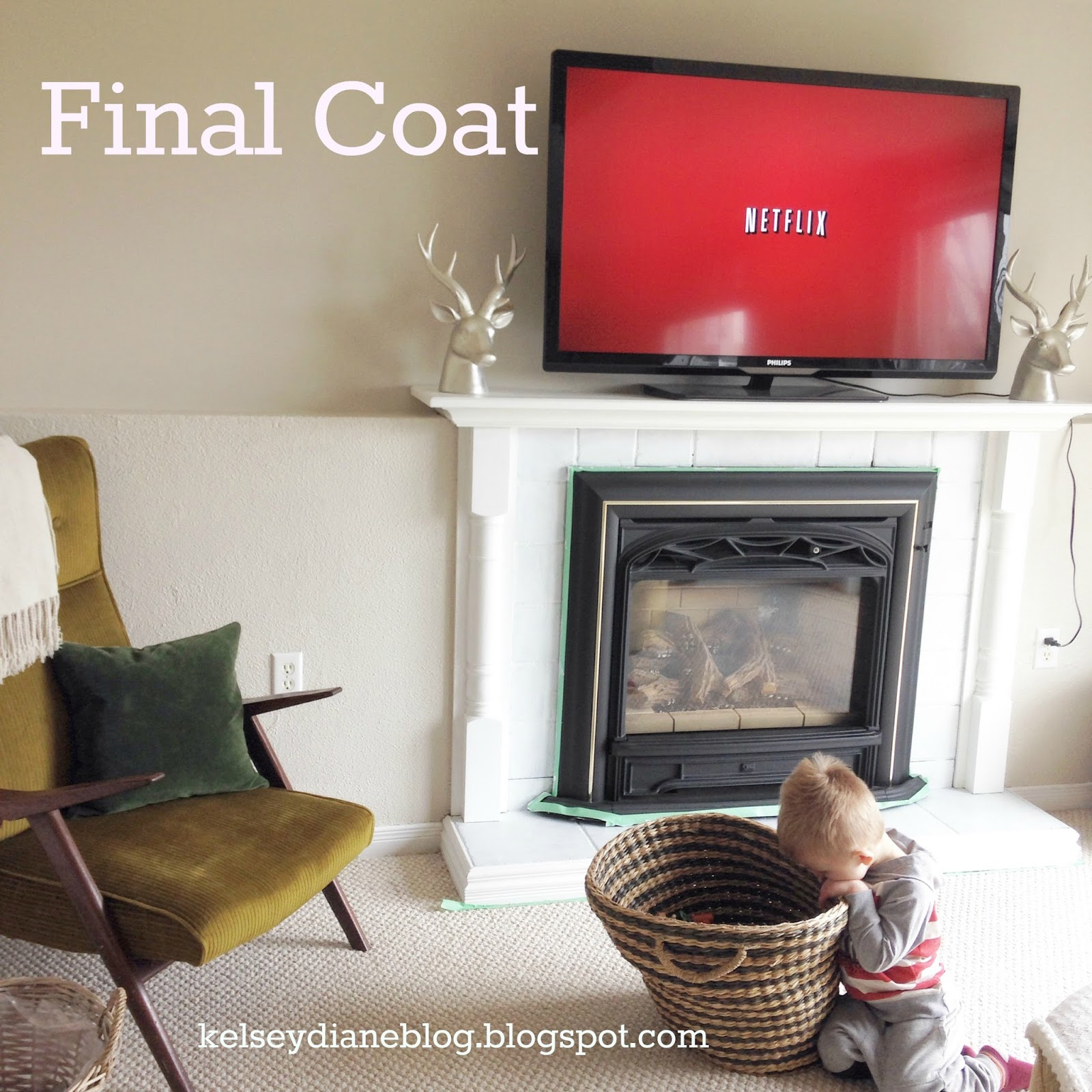 how to update your tile fireplace for 10 kelsey diane