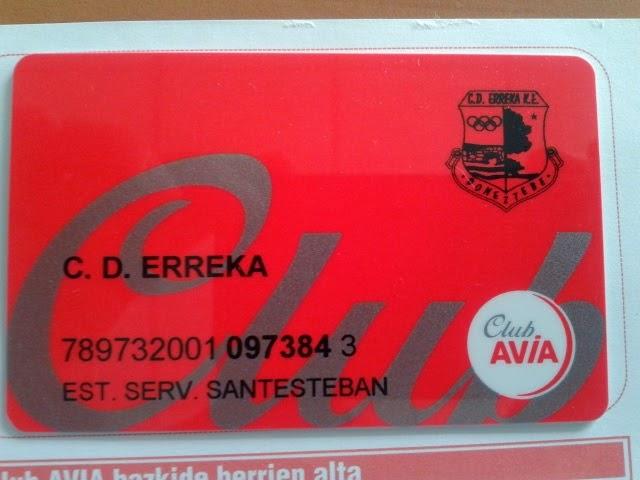 CLUB AVIA-ERREKA TXARTELA