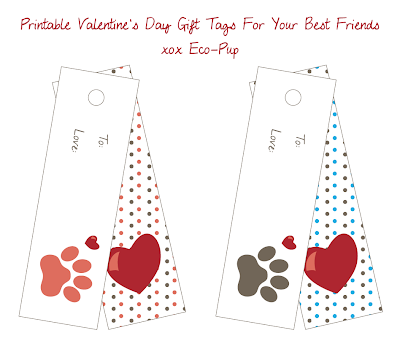 FREE download printable pet Valentine's gift tags