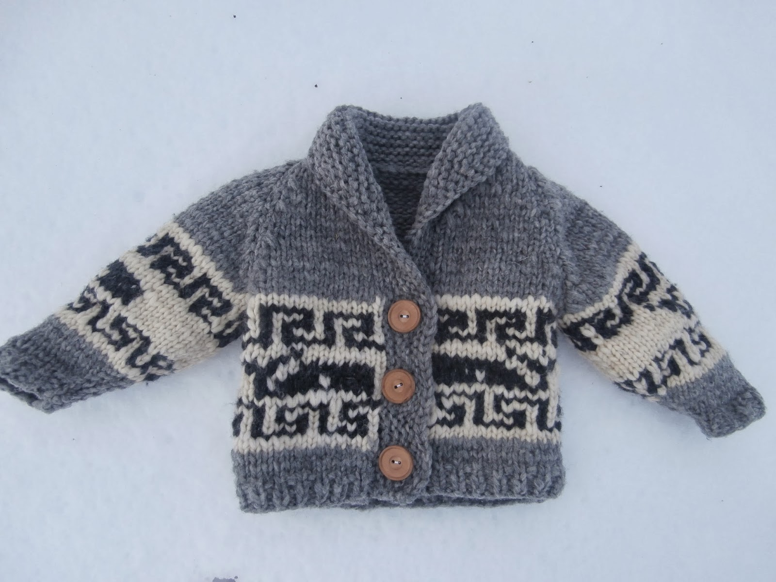 Knitting Pattern Toddler Cardigan : Honey Nutbrowns: Knitting!: Northern Whale Cowichan Sweater - Toddler