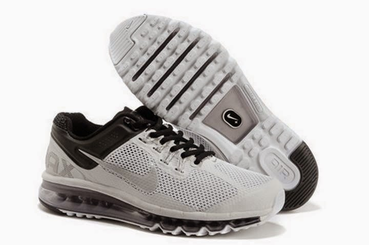 Sales Promotio Nike Air Max 2013 Men Black White Running Shoes