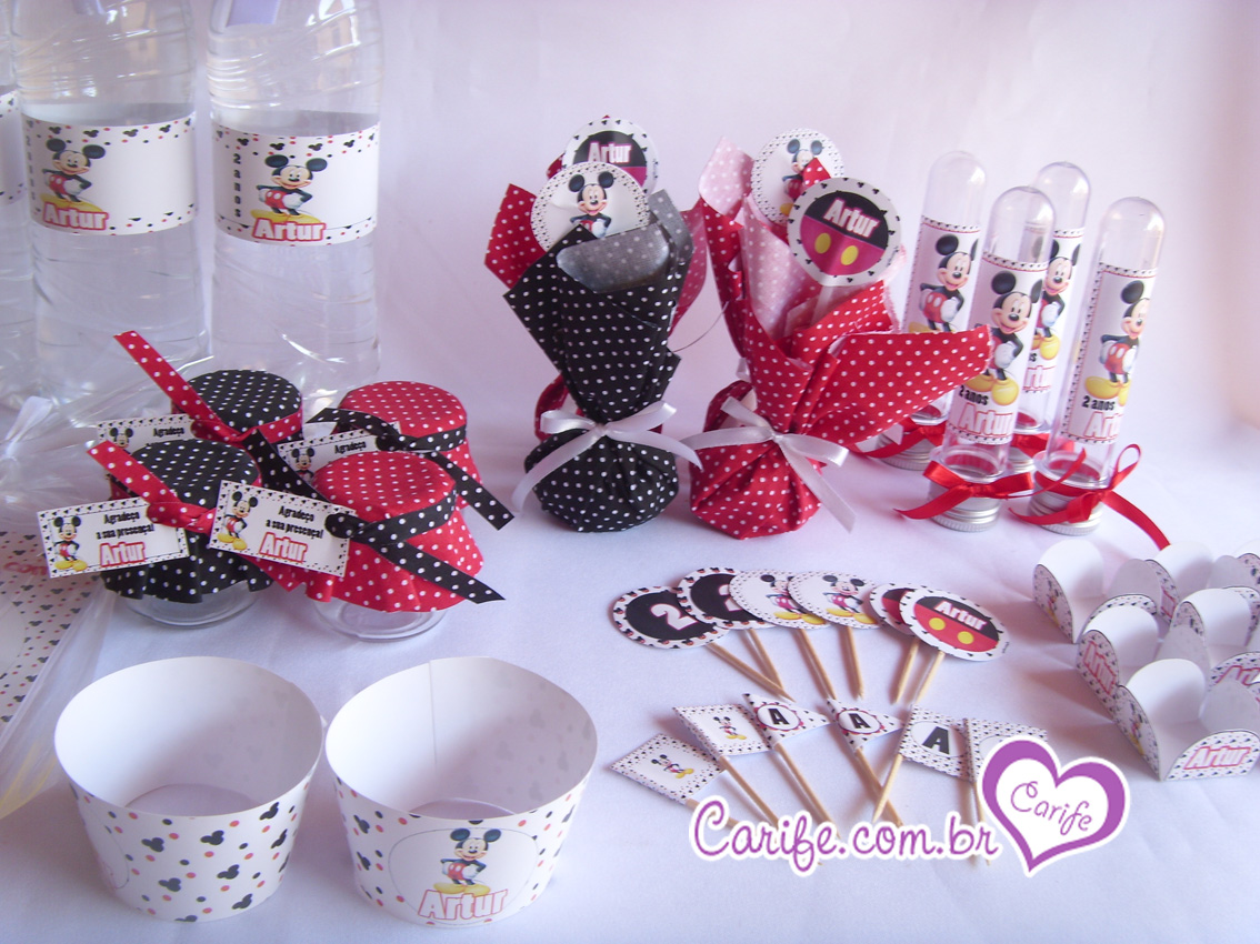 Festa personalizada do Mickey lembrancinhas aniversário infantil 1 ...
