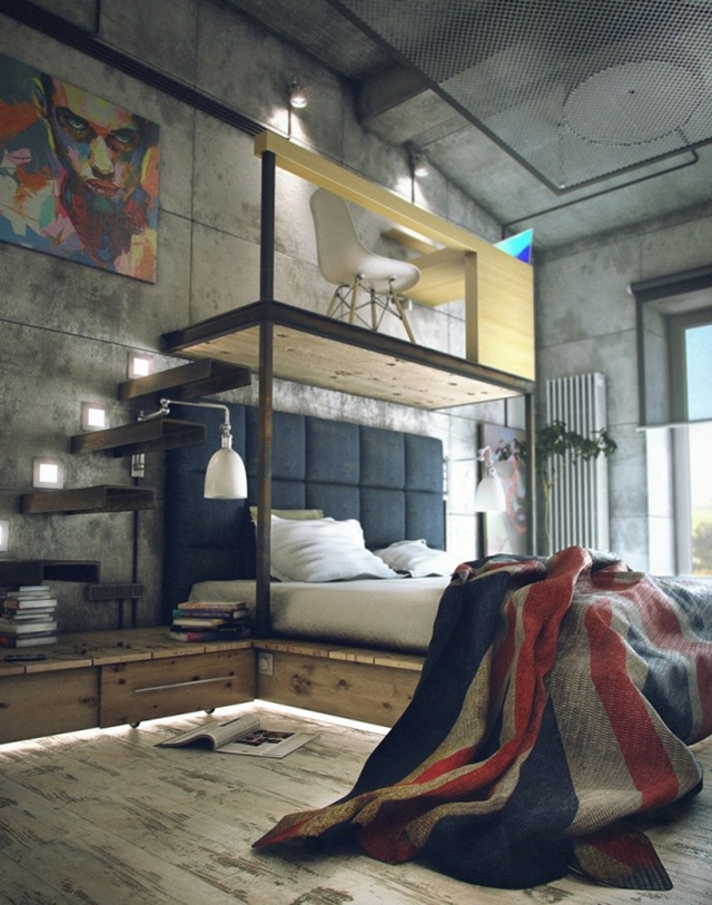 Architecture corner raw loft visualization by maxim zhukov for Architecture mezzanine