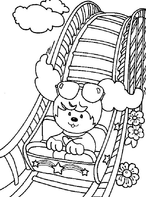 amusement park map coloring pages