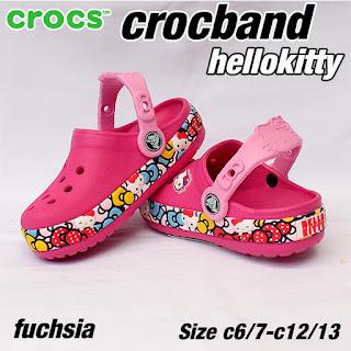 crocs anak hellokitty fuchsia