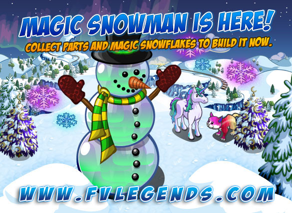 FarmVille Magic Snowman is Here Loading Screen - FvLegends.Com