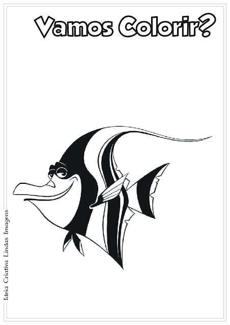 Procurando o Nemo Gill desenho para colorir