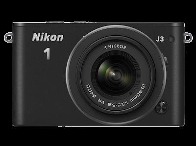 Fotografia della Nikon 1 J3, vista frontale