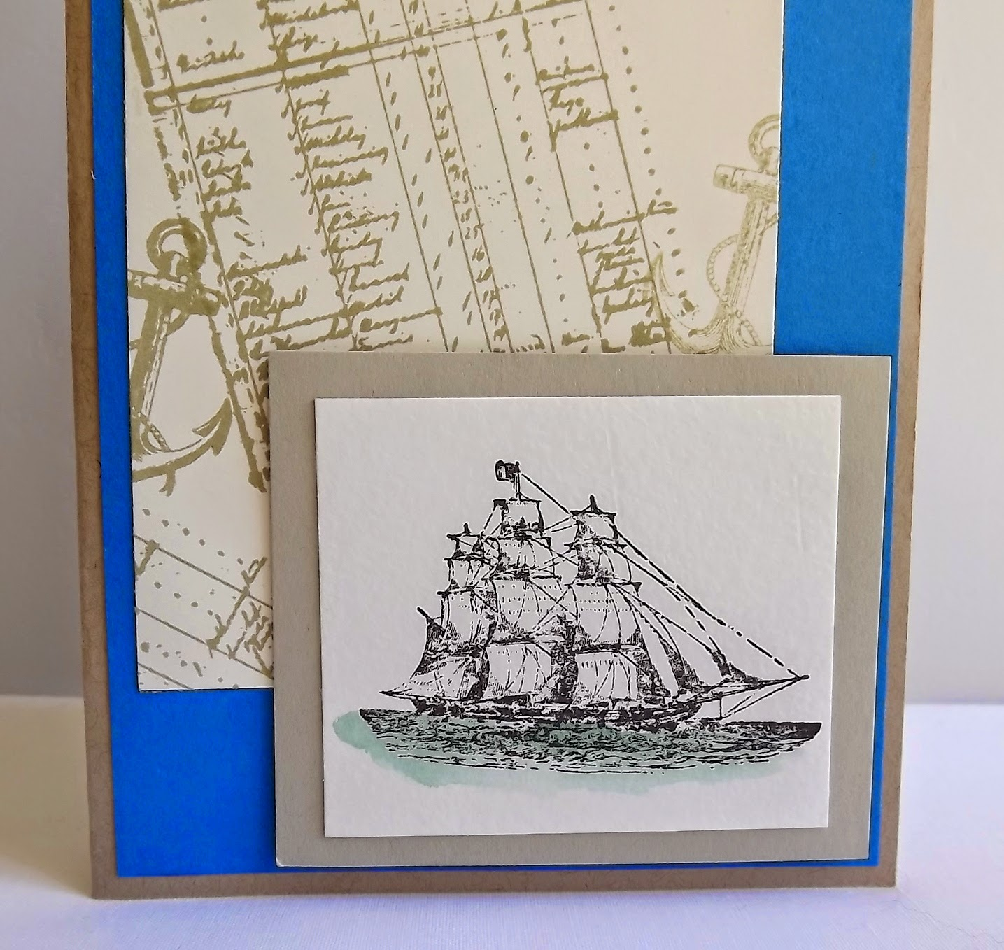Stampin Up! The Open Sea ship