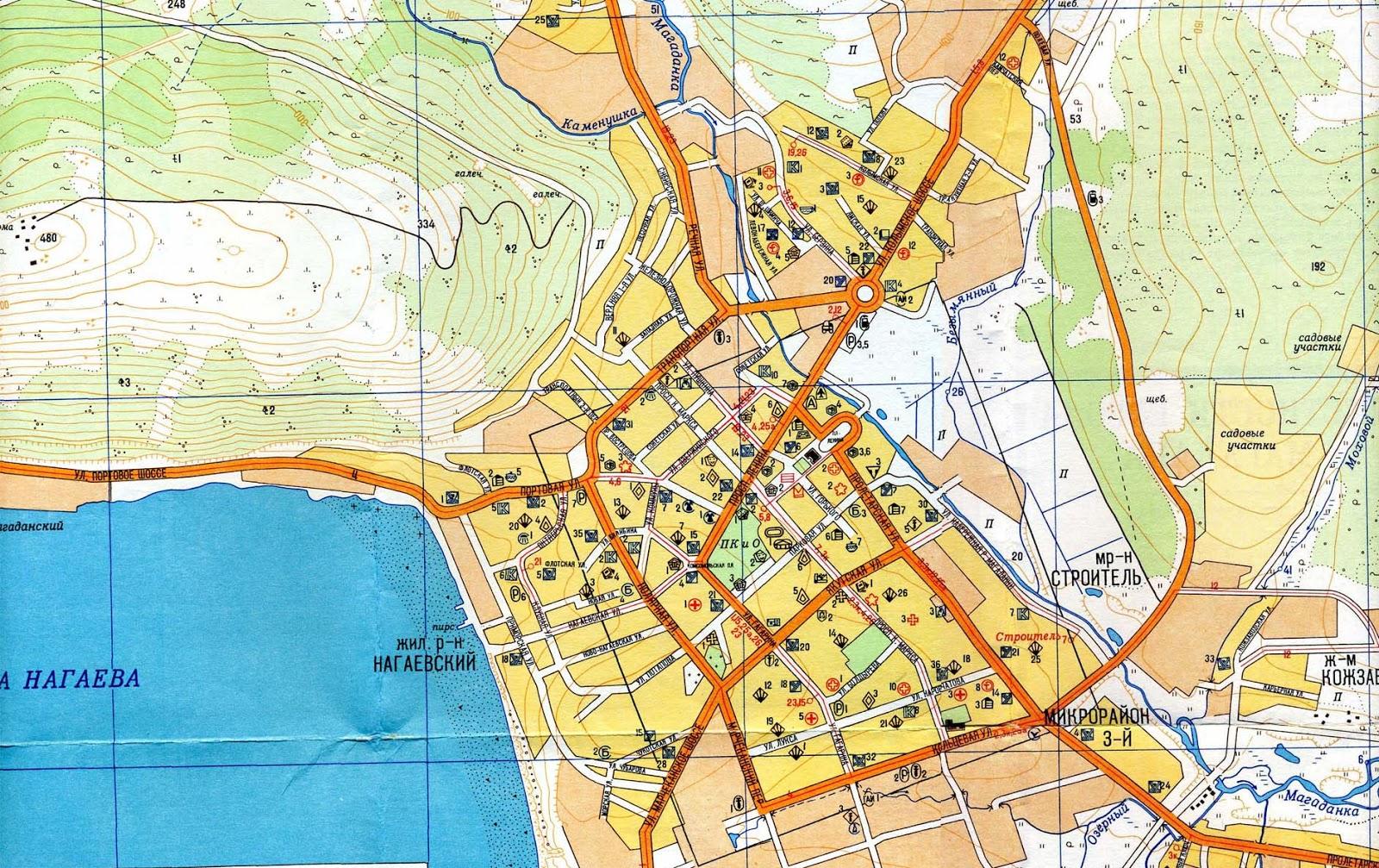 Карту Города Магадана