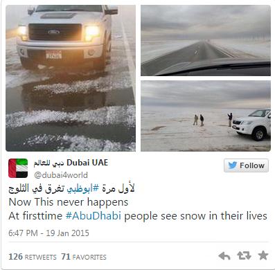Gambar UAE Dan Tanah Arab Kini Dilanda Salji