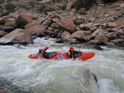 Holden and I charging through Pine Creek, Holden Bradford, Chris Baer, topo duo, dynamic duo, CO, colorado, arkansas, river,