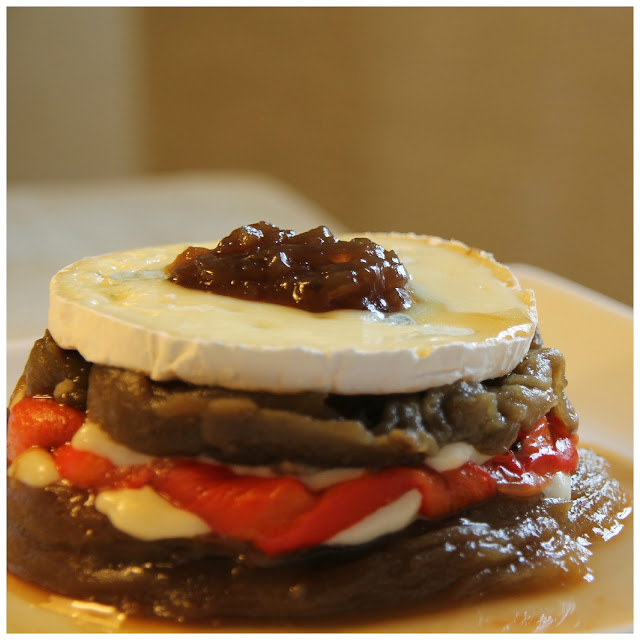 roasted red pepper and eggplant