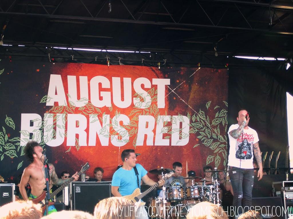 Vans Warped Tour 2013 Pomona California August Burns Red