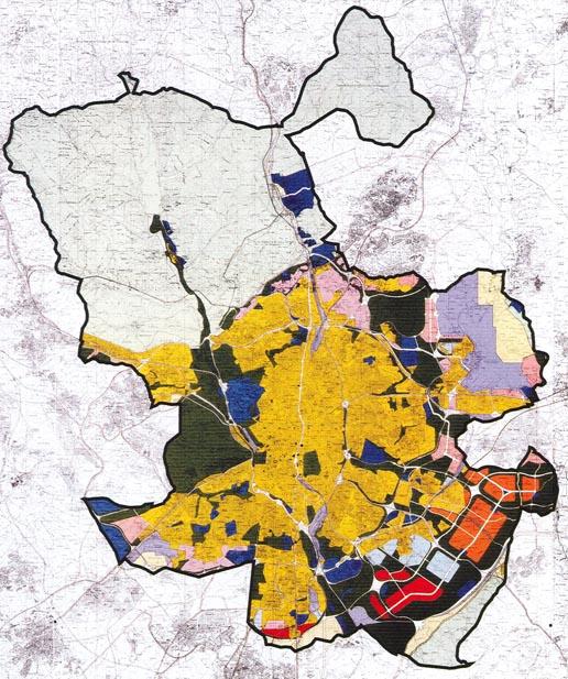 Imagen plan general de ordenación  1997, fuente: Urban Networks