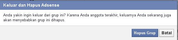 cara menghapus grup di facebook