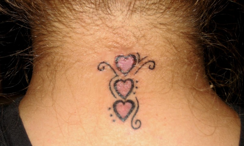 Tiny tattoo small heart neck tattoo for Heart tattoo on neck
