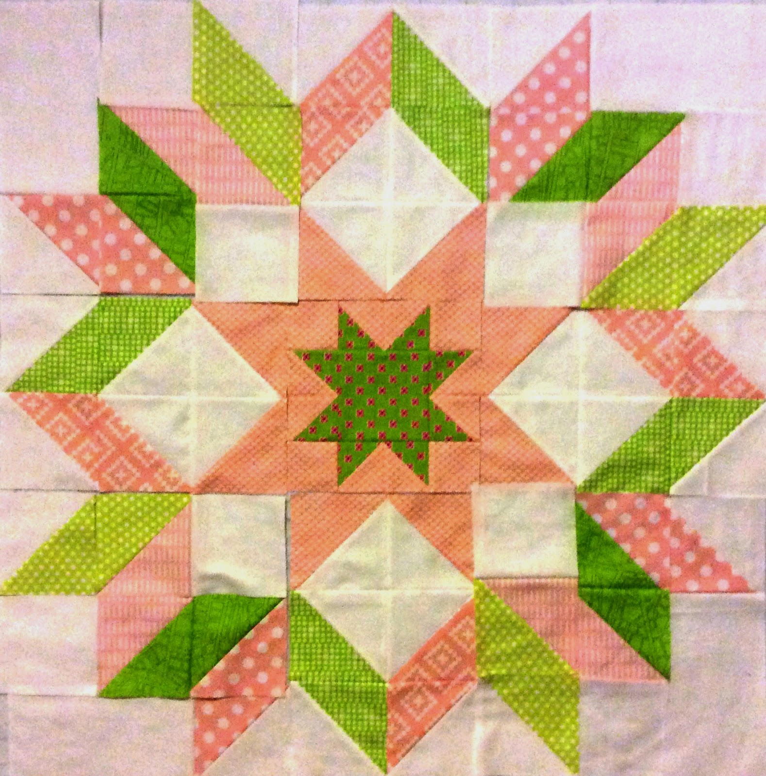 The Starburst Quilt pink and green