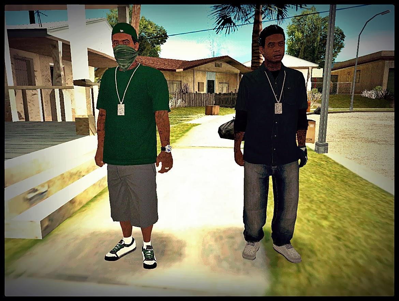 GTA SA - Skin Do Lamar e Davis Do GTA V