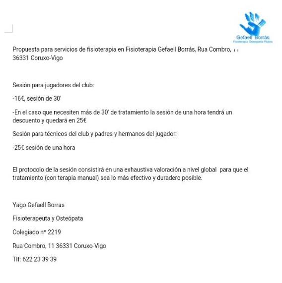 Oferta de Fisioterapia