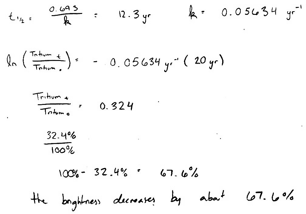Carbon hookup equation with half life