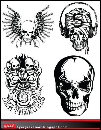 Vector : Tengkorak - Skull