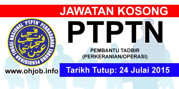 Jawatan Kerja Kosong PTPTN logo www.ohjob.info julai 2015