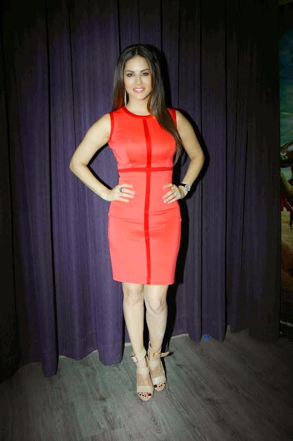 Sunny Leone Looks Super Sexy In a Figure Hugging Red Dress At Bollywood Film 'Ek Paheli Leela' Press Meet