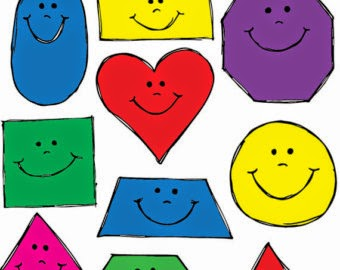 Image of smiling colorful shapes