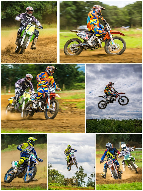 Collage featuring photos from Wilberfoss Motocross - Chris Jones Photography