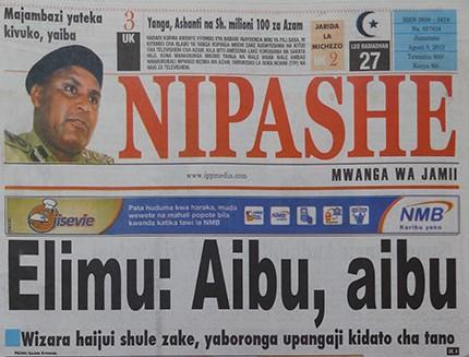 """Team Lowassa on Twitter: """"Gazeti la Nipashe leo, Soma zaidi hapa ..."""