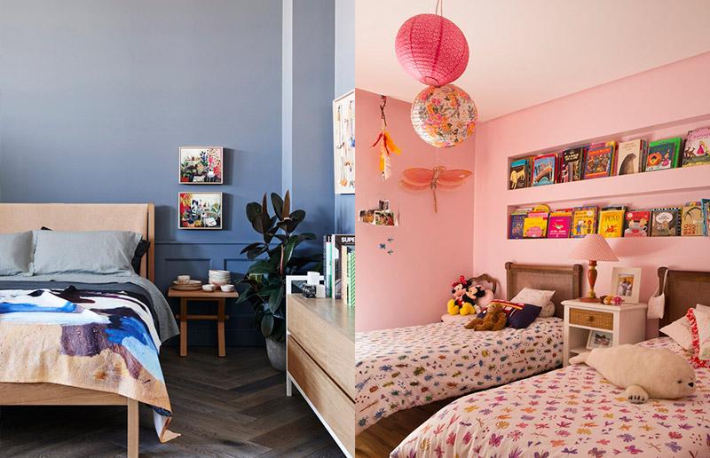 Rosa e Azul no quarto = classico mas sem ser obvio